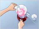 Adicione água ou leite e bata